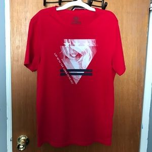 Express Men's Graphic Tee Shirt Red/White Small